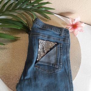 🤩DISNEY🤩 D-signed skinny jeans sequin pocket 14